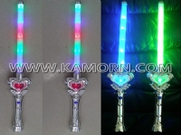 WD-08A / 6 LED heart wand with 3 blinking modes