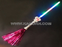 WD-08B / 6 LED Heart Wand with streamer